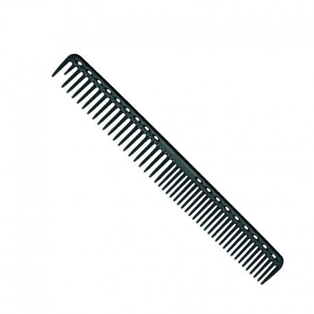 Расческа для стрижки редкозубая длинная комбинированная карбон. YS-333 carbon
