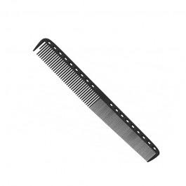 Расческа для стрижки многофункциональная комбинированная 21,5 см карбон