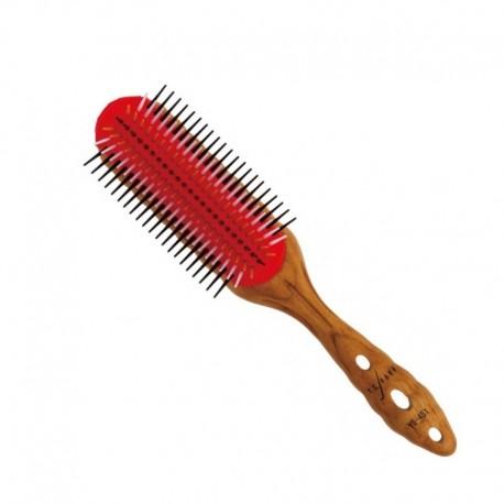 Щетка для волос Pro Wood Styler, 7 рядов Y.S.PARK-451