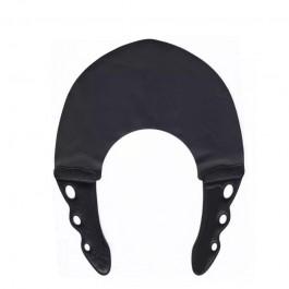 Парикмахерский многоразовый воротник для стрижки и окрашивания Y.S.Park 0.6 мм черный с черным
