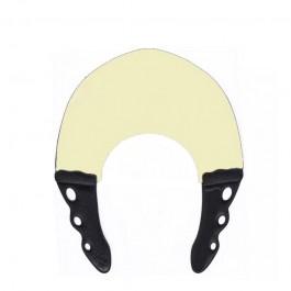 Парикмахерский многоразовый воротник для стрижки и окрашивания Y.S.Park 0.6 мм телесный с черным