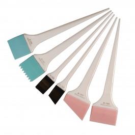 Силиконовые кисти-лопатки для окрашивания Shave Swatch, белые, набор, 6 штук
