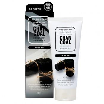 Очищающая маска-пленка с древесным углем Jigott Pure Clean Peel Of Pack Charcoal 180 мл