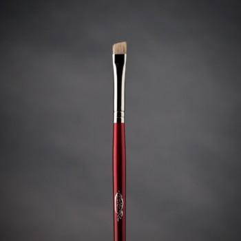 Кисть макияжная профессиональная Ludovik № S17wc скошенная для контура и бровей, рысь