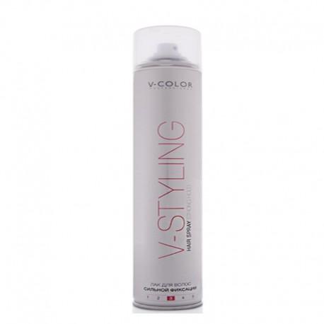 V-COLOR V-Styling Лак для волос сильной фиксации Hair Spray Strog Hold 3 400мл.