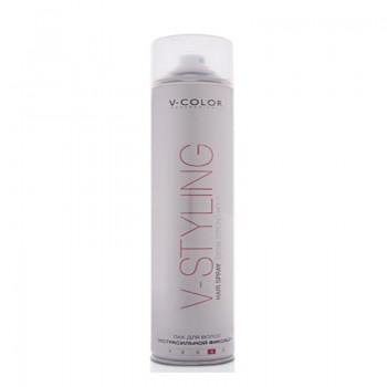 V-COLOR V-Styling Лак для волос экстрасильной фиксации Hair Spray Extra Strong Hold 4 400мл.