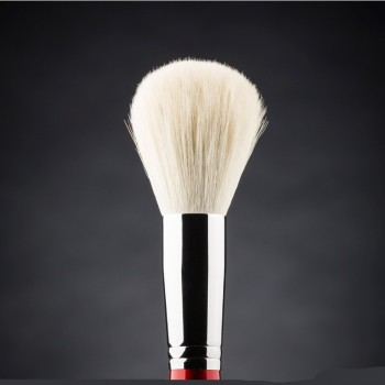 Кисть для макияжа Ludovik №1wk круглая, для пудры, коза белая