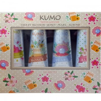 Gotaiyo Kumo Набор кремов для рук Cherry Blossom, Honey, Peral и Almond по 30 гр