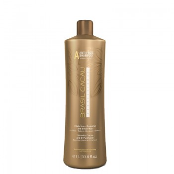 Разглаживающий шампунь для ежедневного ухода Brasil Cacau Anti Frizz Sulfate Free Shampoo, 1 л