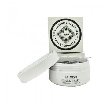 Гидрогелевая маска с черным жемчугом для кожи вокруг глаз LA MISO 60 шт.