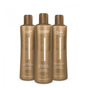 Набор для кератинового выпрямления волос Brasil Cacau 300мл