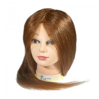 ГОЛОВА-МАНЕКЕН УЧЕБНАЯ,70% натуральные волосы,60см