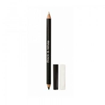 "JUST Eyeliner Pencil Карандаш для глаз деревянный 2-х сторонний ( чёрно-белый) ""Кайал"" т.711"