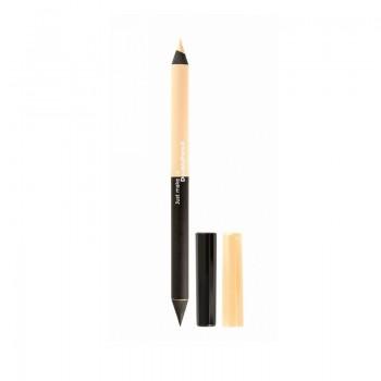 "JUST Eyeliner Pencil Карандаш для глаз деревянный 2-х сторонний (чёрно-бежевый) ""Кайал"" т.712"