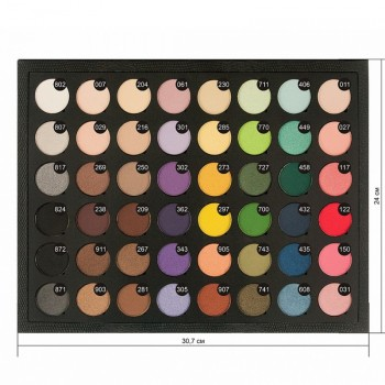 JUST Palette of Eyeshadow Палитра теней 48 цветов L-29мм