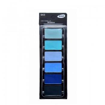 JUST Set of Eyeshadow Набор теней (6 оттенков) J (33мм*21мм) т.943