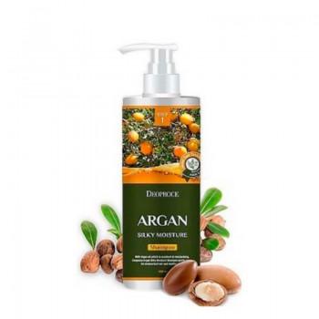 Шампунь для волос с аргановым маслом Deoproce Argan Silky Moisture Shampoo, 1000 мл