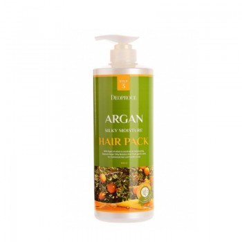 Маска для волос с аргановым маслом Deoproce Argan Silky Moisture Hair Pack 1000мл