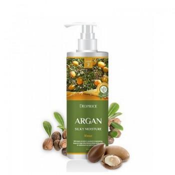 Бальзам для волос с аргановым маслом Deoproce Argan Silky Moisture Rinse, 1000 мл