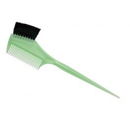 Кисть для окраски волос Dewal JPP049 green (55мм, расческа, узкая, зеленая)