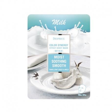 Маска DEOPROCE тканевая молочная DEOPROCE COLOR SYNERGY EFFECT SHEET MASK SKY BLUE 20 г