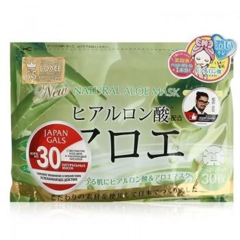 JAPAN GALS Маска для лица с экстрактом Алоэ 30 штук