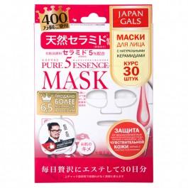 """Japan Gals """"Pure5 Essence"""" Маска с натуральными керамидами, 30 шт"""