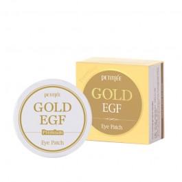 Патчи для глаз с частицами золота Petitfee Premium Gold & EGF Eye Patch, 60 штук
