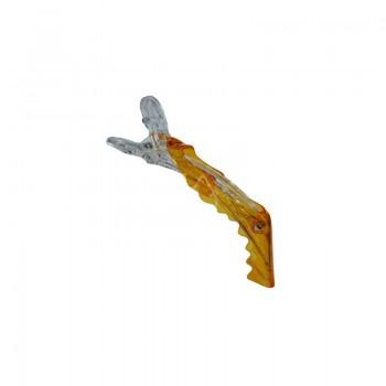 Зажимы пластмассовые Крокодил Особо прочные Желтые 4шт