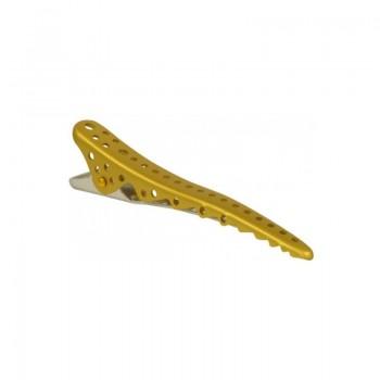 Парикмахерские зажимы для волос Y.S.Park Shark Clip YS-27*2 (2 шт.) золотой металлик