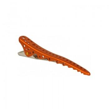 Парикмахерские зажимы для волос Y.S.Park Shark Clip YS-28*2 (2 шт.) оранжевый металлик