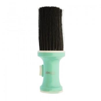 Кисть-сметка DEWAL, настольная, ручка- пластик, с ёмкостью для талька, искусственная щетина, цветная
