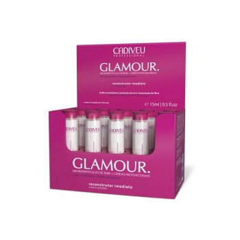 Восстанавливающие ампулы (маска) Glamour Plus Instant Rebuilder Vial CADIVEU professional 15 мл х 10 ампул