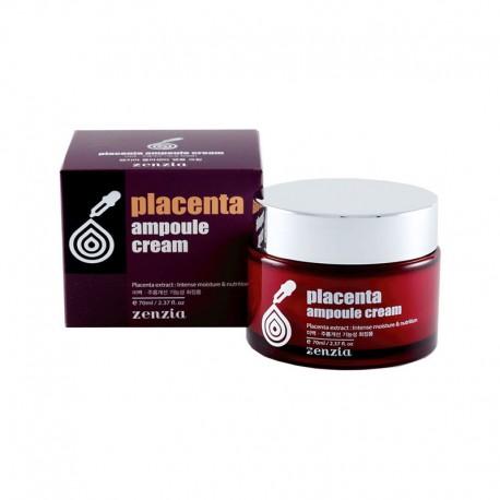 Крем для лица с фитоплацентой Zenzia Placenta Ampoule Cream 70 мл