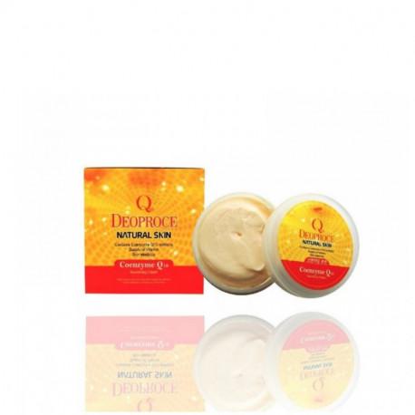 Питательный крем для лица и тела с коэнзимом Q10 Deoproce Natural Skin Coenzyme Q10 Nourishing Cream,100мл