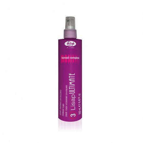 """Кератиновый разглаживающий термозащищающий флюид для волос """"3 - Lisap Ultimate Straight Fluid"""""""