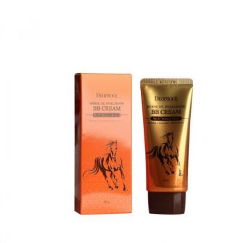 ВВ крем на основе Лошадиного масла и Гиалуроновой кислоты Deoproce horse oil hyalurone ВВ cream SPF50+PA+++ 60гр