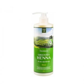 Бальзам для волос с зеленым чаем и хной Deoproce Green Tea Henna Pure Refresh Rinse, 1000 мл