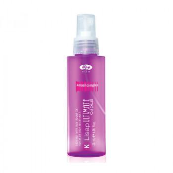 Масло для выпрямления вьющихся волос «Lisap Ultimate Keratin Oil Plus», 120 мл.