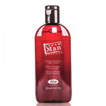 Укрепляющий шампунь для нормальных волос для мужчин «Lisap Man Densifying Shampoo for Normal Hair», 250 мл.