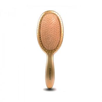 Framar Metalling Detangle Brush - Gold