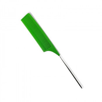 Расческа для вуального мелирования волос ,зеленая