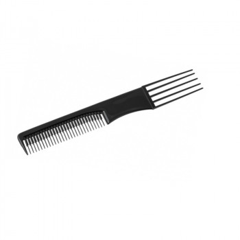 Расчёска FORK COMB черная с вилообразной ручкой