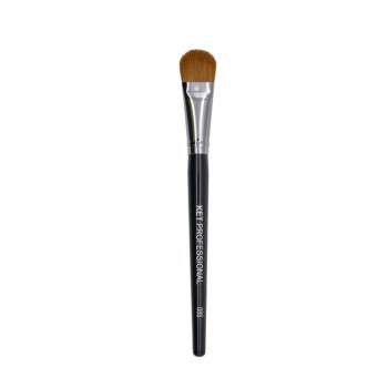 Кисть макияжная профессиональная KET PROFESSIONAL № 8S для тона и коррекции,соболь