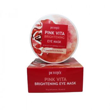 Petitfee Патчи осветляющие тканевые для глаз Pink Vita Brightening Eye Mask