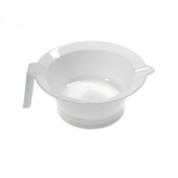 Чаша для краски SIBEL с носиком и ручкой белая (13 см)