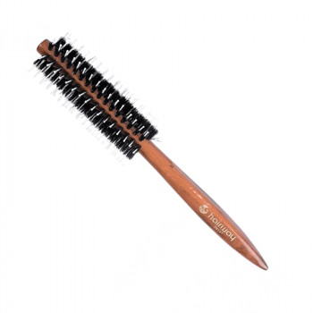 Брашинг Hairway Glossy Wood для волос, деревянный, 8 рядов, 12мм (06926)