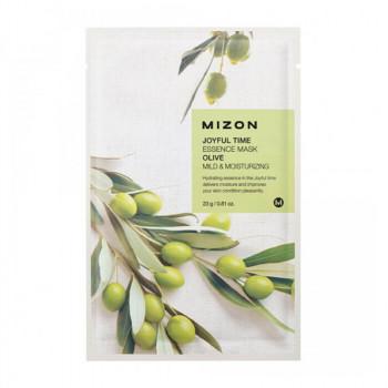 Тканевая маска для лица с экстрактом оливы MIZON Joyful Time Essence Mask Olive 23 гр.