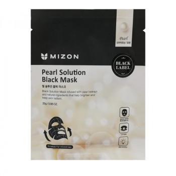 Маска для лица с жемчугом MIZON Pearl Solution Black Mask 25 гр.