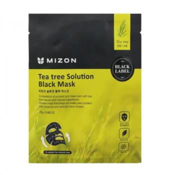 Маска для лица с экстрактом чайного дерева MIZON Tea tree Solution Black Mask 25 гр.